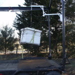Herc-U-lifts-Herculifts-Hives-Beehive-Bees-Liftinghorse-saddle-hoist-portable-lift-trailer-receiver-hitch-remote-control-winch