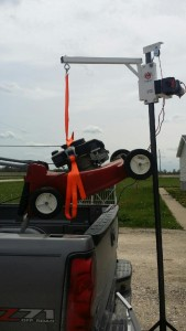 Herc-U-lifts-Herculifts-horse-saddle-Lifting-Lawn-Mower-Saddling-hoist-portable-lift-receiver-hitch-trailer-mount-remote-control-winch